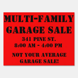 Not your average garage sale sign