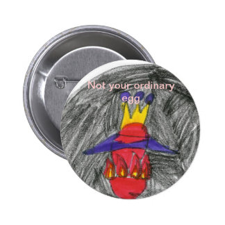 Not your ordinary egg 2 inch round button