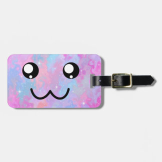 Not Yours Pastel Magical Cute Face Luggage Tag
