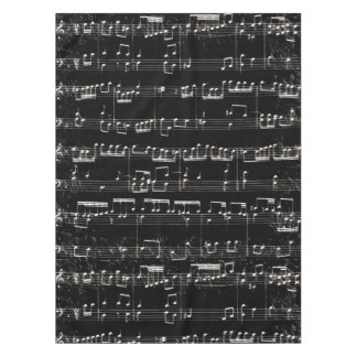 Nota Bene (black and white 2) Tablecloth