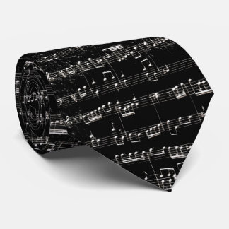 Nota Bene (black and white 2) Tie