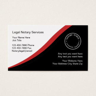 Notary public business cards business card printing for Notary business card examples