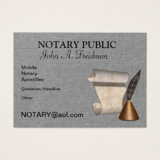 Notary public business cards and business card templates for Examples of notary public business cards