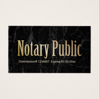 Notary Public Loan Signing Agent Modern Marble Business Card