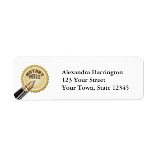 Notary Public Return Address Label