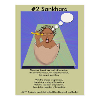 Note #2 Sankhara -  from Dependent Arising Postcard
