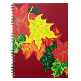 Note Books Autumn Leaves