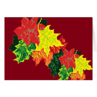 Note Card Blank inside Autumn Leaves