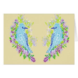 Note Card Blank inside / Blue Birds