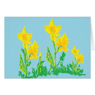 Note Card Blank inside /Daffodils