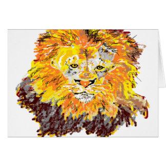 Note Card Blank inside Lion