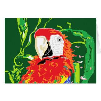 Note Card Blank inside /Parrot
