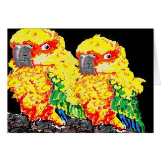 Note Card Blank inside Parrots