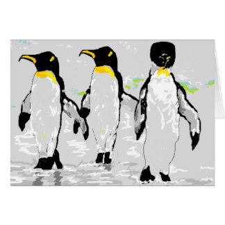 Note Card Blank Inside Penguin