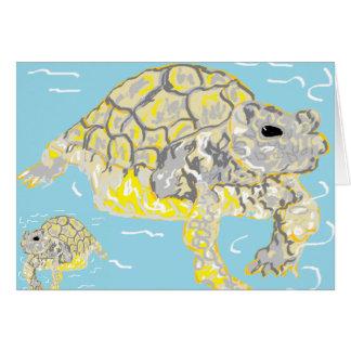 Note Card Blank Inside Sea Turtles Sarr