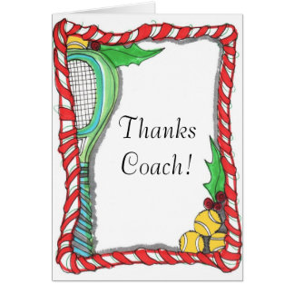 Note Card -Candy Cane Tennis