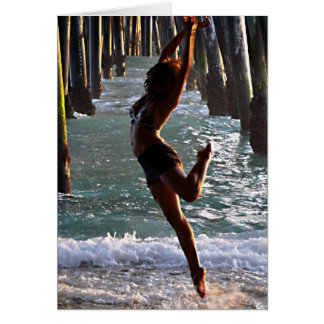 NOTE CARD:  Dancer at the Ocean Card