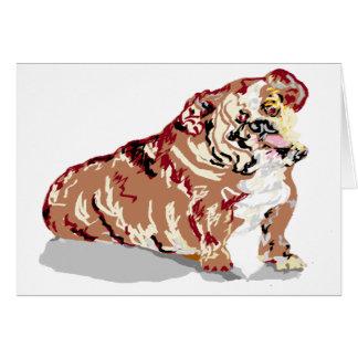 Note Card/ English Bull Dog Card