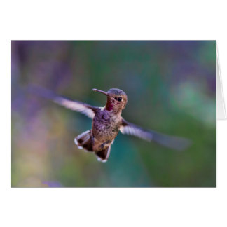Note Card, envelopes incl. - Hummingbird in Flight Card
