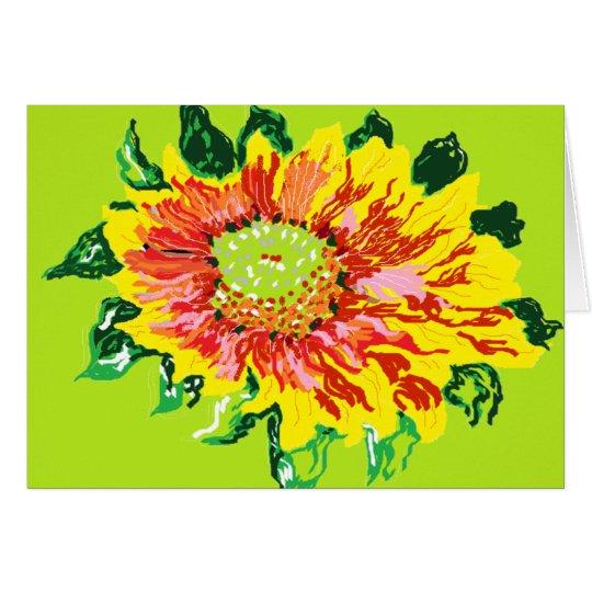 Note Card /gaillardia blanket flowers perennial