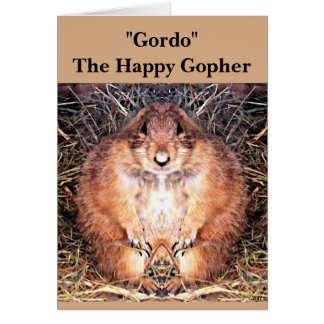 """Note Card """"Gordo"""" The Happy Gopher"""