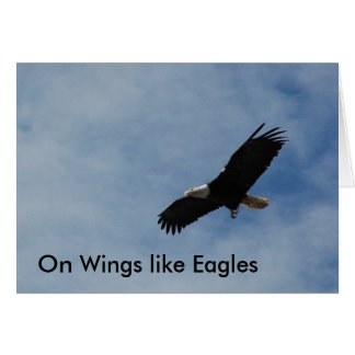"Note Card - ""On Wings like Eagles"""