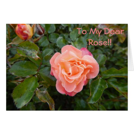 NOTE CARD - Pink Rose - To My Dear Rose!!