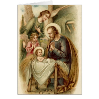 Note Card (Scripture): St. Joseph Nativity