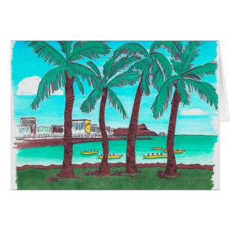 Note card with Hawaiian art