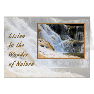 Note Card Wonder of Nature Water Fall