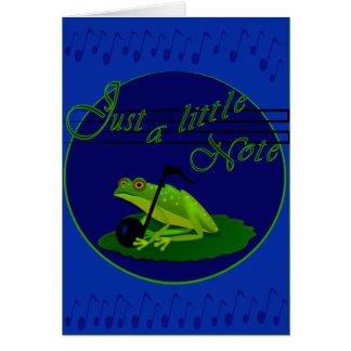 Note d'amour de grenouille, carte