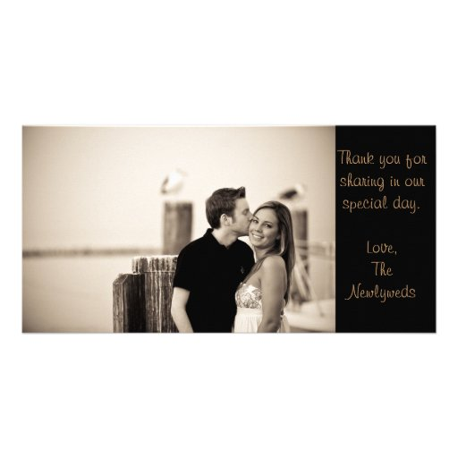 Note de Merci Cartes De Vœux Avec Photo