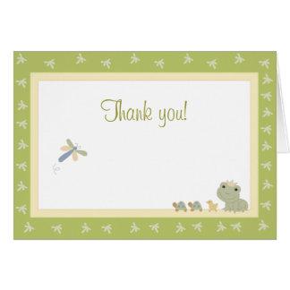 Note de Merci de carte de prince note de grenouill