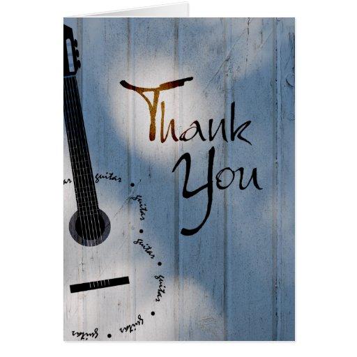Note de Merci de guitare Carte