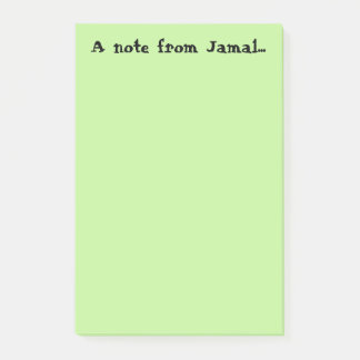 Note from Jamal