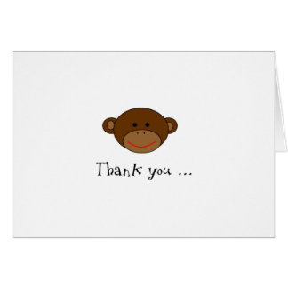 Note géniale de Merci de singe Carte De Correspondance
