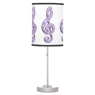 Note lilas pourpre scintillante de musique