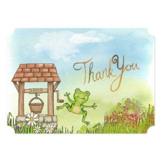 Note mignonne de Merci de grenouille Carton D'invitation 12,7 Cm X 17,78 Cm