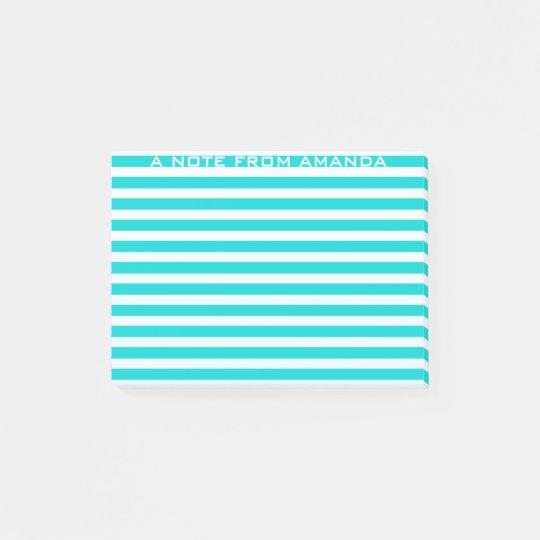 Note Minimalism Stripes Mint Green Ombre