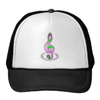 Note music trucker hat
