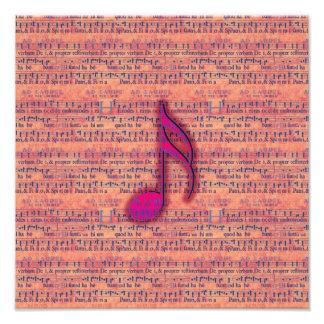 Note musicale à la mode Girly sur la musique de fe Photographe