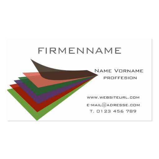 Note pad business card templates