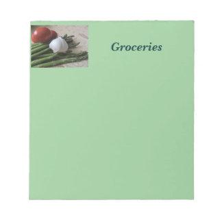 Note Pad--Groceries Asparagus