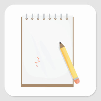 Note Pad Square Sticker