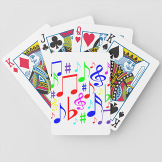 note rainbow bicycle playing cards