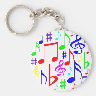 note rainbow keychain