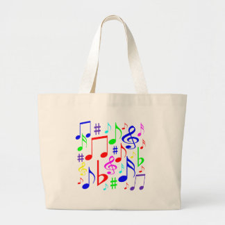 note rainbow large tote bag