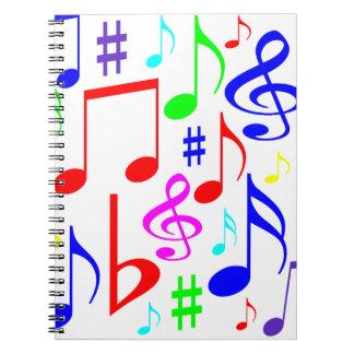 note rainbow notebook