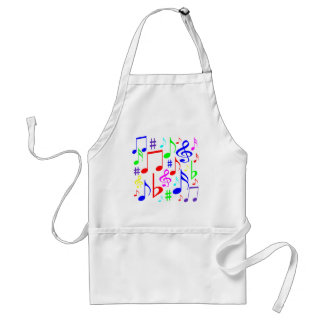 note rainbow standard apron