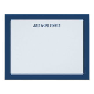Note simple de cobalt carton d'invitation 10,79 cm x 13,97 cm